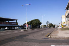 Road Heading Towards City Centre in Durban South Africa Royalty Free Stock Images