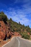 Road through the High Atlas Mountains. Royalty Free Stock Images
