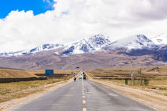 Road in highland. Tibet, China Royalty Free Stock Image