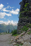 Mountain road. Road in highlands of Abkhazia stock photos
