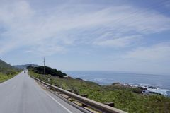 Road Highway 1. Highway 1 in California and the north pacific ocean Stock Photo