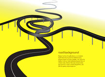 Road or highway conceptual  background Royalty Free Stock Photography