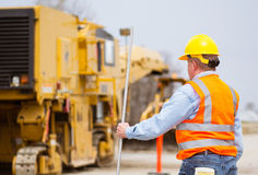 Road highway Construction worker Royalty Free Stock Photo