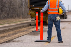 Road highway Construction worker Royalty Free Stock Images