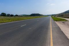 Road Highway Deserted Landscape Royalty Free Stock Photography