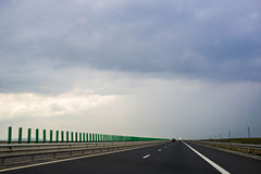 Road. Highway going through Romania country royalty free stock photos