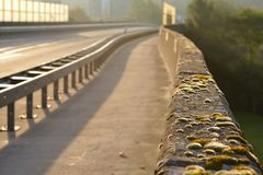 Road or highway with guardrail stock photography
