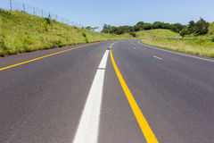 Road Highway Painted Markings Royalty Free Stock Photo