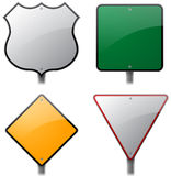 Road and Highway Signs. Blank road and highway signs for your content Stock Image