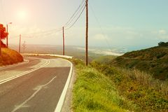 Road highway vanishing in perspective Royalty Free Stock Image