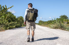 Road hiker royalty free stock photography