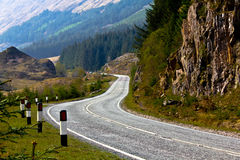 Road in hill Royalty Free Stock Images