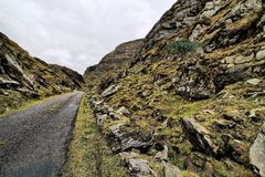 Road in hills of Dingle peninsula Royalty Free Stock Photo