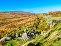 The road in the hills of Ireland. Sally Gap or Military Road. The road in the hills of Ireland. County Wicklow, Wicklow Mountains National Park, Ireland Royalty Free Stock Photos