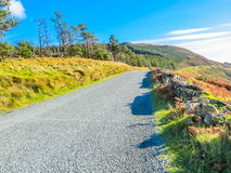 The road in the hills of Ireland. On the road to Sally Gap across the Wicklow Mountains. County Wicklow, Wicklow Mountains National Park, Ireland Stock Images