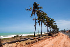 A road in the hills in Maceio Stock Image