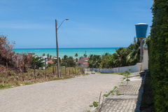A road in the hills in Maceio Stock Photography