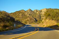 Road through the hills in Malibu. California Stock Image