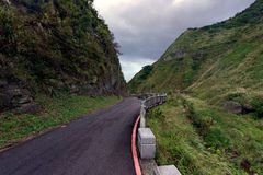 Road in hills of Ruifang Distric, Taiwan royalty free stock photography