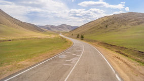 The road in the hills Royalty Free Stock Image