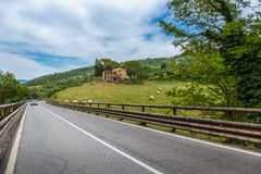 The road in the hills of Tuscany Stock Image