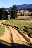 Road on hillside stock photo