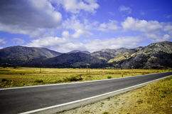 Road in hils Stock Photography