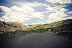 Road in Himalaya mountains. Royalty Free Stock Photo