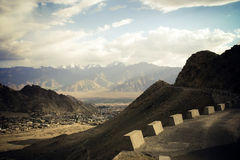 Road in Himalaya mountains. Stock Photography