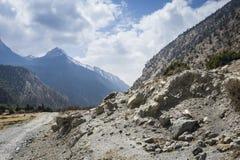 Road in Himalaya mountains Royalty Free Stock Image