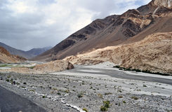Road in Himalayan mountains Royalty Free Stock Photography