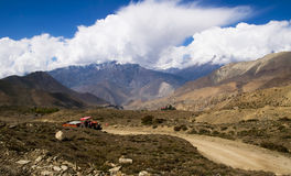 Road in Himalayas, Nepal royalty free stock images