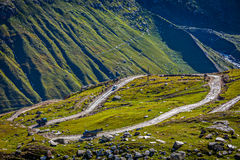 Road in Himalayas Royalty Free Stock Images