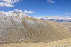 Road in the Himalayas Royalty Free Stock Photos