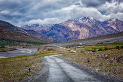 Road in Himalayas Stock Photo