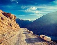 Road in Himalayas Stock Photos