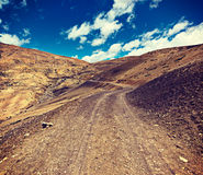 Road in Himalayas Royalty Free Stock Photos