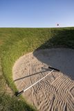Road Hole bunker, 17th, Old Course St Andrews Royalty Free Stock Photo