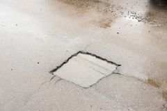 Road hole Royalty Free Stock Photography
