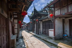 ---- Road Hole town one of the top ten most attractive town Chongqing Royalty Free Stock Photos