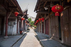 ---- Road Hole town one of the top ten most attractive town Chongqing Royalty Free Stock Images