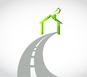Road home concept illustration design Stock Photo