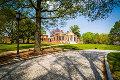 Road and the Homewood Museum at John Hopkins University, in Balt Stock Image