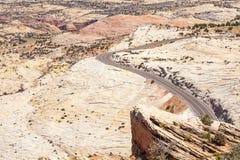 Road through huge plateau in Utah Royalty Free Stock Images