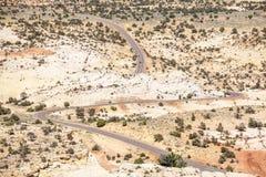 Road through huge plateau in Utah Stock Photos