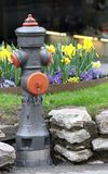 Road hydrant for attack on the fire truck fire in case of fire Stock Photo