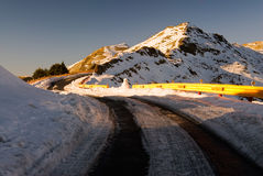 Road with ice Royalty Free Stock Photos