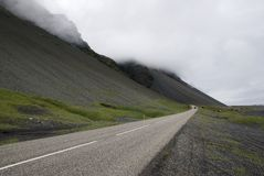 Road in Iceland. Near volcano slope Stock Photography