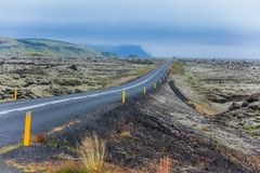 Road in iceland. Royalty Free Stock Photo
