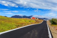 Road in iceland. Royalty Free Stock Photos